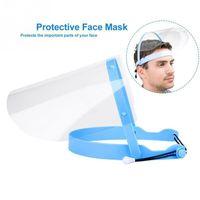 واضحة واقية الوجه الدرع قناع الشاشة البلاستيكية حماية الوجه الكامل عزل قناع المضادة للضباب واقية قناع درع هات FY8016