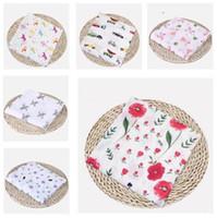 Mantas para bebés Cotton Flamingo Fruits Rose Fruits Imprimir Muslin Mantas de bebé Mantas Ropa de cama Infantil Swaddle Wrap Toalla para niños Niñas Swaddle Manta Regalos