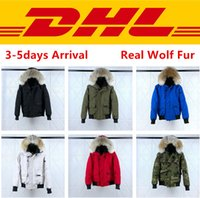 Top Quality Canada PBI CHILLIWACK BOMBER Parka Men Real Wolf...