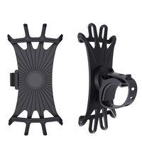 Anti-Rutsch-Universal-Fahrrad-Motorrad-Handy-Einfassung Silikon-Fahrrad-Spaziergänger Halter-Zahnstange mit 360-Grad-Drehung