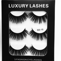 3 Pairs of 3D Faux Mink Lashes 3 in 1 False Eyelashes Indivi...