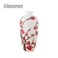 Jingdezhen antike Porzellan Klassische chinesische Vase Kaolin Blumenvase Hauptdekor handgemachte Pflaumenblüten Vasen SH190925