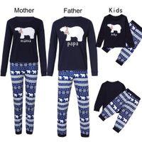 Christmas Family Pajamas Mom Daughter Clothes Mama Papa Baby Christmas Pajamas Family Look Father Son Matching Clothes Sets Sleepwear Nighty