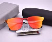 Nueva marca Lentes de sol de los hombres de las mujeres del marco de metal gafas de sol del verano de la protección UV400 gafas de sol con la caja y los casos 3576logo lentes de oro