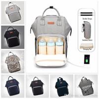 Panales del pañal Bolsas de enfermería USB de carga mamá maternidad mochilas Marca Desinger bolsos madre de la manera al aire libre Bolsas de viaje Organizador C4693