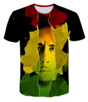 New Fashion Donna / uomo T-Shirt Reggae Bob Marley 3D Stampa Uomo T-Shirt Uomo Casual Maglietta Hip Hop Estate Top RW0175