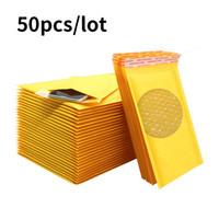 50pcs bulle mailer en papier Kraft Enveloppes Bubble Sacs Mailers rembourré Expédition enveloppe postale Sac Goutte Sh