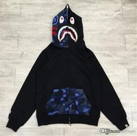 2017 de calidad superior caliente A Bathing A Ape Bap FULL ZIP HOODIE Sweater Coat Shark Space Camo Half Face Full Zip Hoodie hombres
