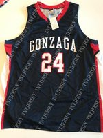Cheap custom Gonzaga Basketball Jersey #24 Stitched Customiz...