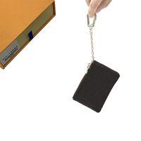 Portefeuilles clés Porte-monnaie Porte-monnaie des hommes-clés carte Pouch Femmes Porte-sacs à main en cuir carte chaîne Mini Porte-monnaie Porte-monnaie sac à main d'embrayage 36-14