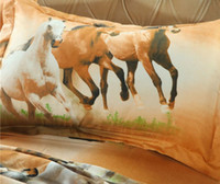 Horse Printed Bedding Suit Quilt Cover 4 Pics Duvet Cover Hi...