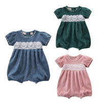 569344fece5b New Arrival. Spring Summer 2019 new baby girl clothes Baby Romper lace ...