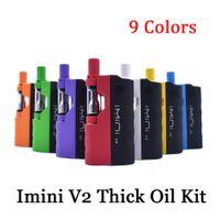Original Imini V2 E Kit de cigarrillos 650mAh Batería MOD 510 Hilo .5ml 1.0ml I1 Cartucho de tanques Atomizador de aceite grueso Vaporizador Vaporizador Auténtico