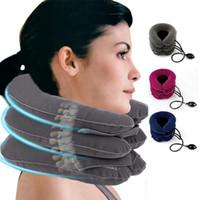 3 strati gonfiabili cervicale cuscino alleviare il collo capo barella Dolore completa Velvet sostegno del collo del collo di sanità per massaggi Strumento RRA1653