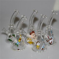Mini Glass Beaker Bongs Water Pipes 4. 5 Inch Height 10mm Fem...