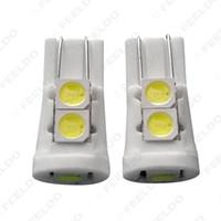 venta al por mayor Super White Auto T10 194168 5SMD 5050 chip de cerámica cuña coche LED puerta bombillas luces de marcador 12V # 4648