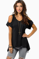 Fashion Sexy Women Tops Off Shoulder V-neck T Shirt Casual Solid Loose Top Tees Plus Size S-5XL
