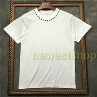 2020 mens ropa etiqueta de verano hotselling camisa de cuello estrella camiseta de manga corta de metal del diseñador de camisetas de las mujeres UNSEX Camiseta casual tapas