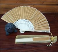 Personalisierter Laser-Cut-Name Datum luxuriöser Seide Hand-Fan-Geschenk als Hochzeitsgeschenk mit Organza-Tasche in 15 Farben erhältlich