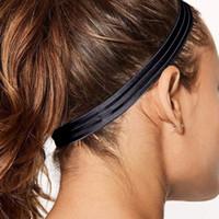 Não Slip Homens Mulheres Sweatband Esporte Tênis de Fitness Badminton Tênis de Basquete Correndo Headbands Faixa de Suor de Cabelo