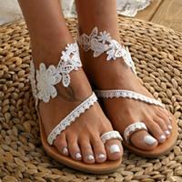 Sandalet Adispute 2021 Gelin Aksesuarları Halhal Sequins Dantel Düğün Dekor Zincir Kadın Lady Beach