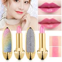 Canro Stern Temperatur geändert Farblippenstift Natürliche Feuchtigkeit langlebige Lippenstifte Nourish schützen Lippen Pflege Makeup mit Spiegel