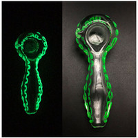 "Luckbanger 4. 2"" inch Luminous Glass Oil Burner Pipes Sc..."