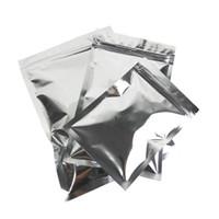 10x15cm cerniera Bone Bag Chiusura tasche fondo piatto fotoprotettivo alluminio sigillato Pocket Opaco