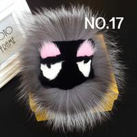 패션 명품 디자이너 귀여운 아름다운 손으로 만든 모피 작은 moster 볼 가방의 매력 열쇠 고리 (40 개) 모델