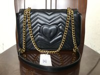 2019 Fashion Love heart V Wave Pattern Satchel Designer Shou...