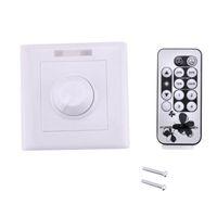 220 V LED Dimmer Switch AC 110V 220V Wall Mount with IR Remote Controller 300 Watt for LED Light Strip Brightness Adjustable