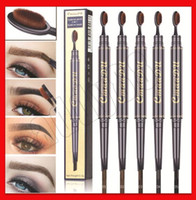 CmaaDu eye makeup Eyebrow Pencil Toothbrush Head Design Brus...