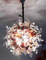 Современный витраж Люстра Свет Energay Saving Источник света Чихули Стиль Рука выдувное стекло под потолком