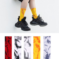 Marble colors Tie- dyed Crew Socks plantlife socks for men wo...