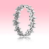 Real 925 argento margherita anello di fiori donne ragazze gioielli per feste per Pandora CZ Diamond Crystal Flowers Anello con scatola originale