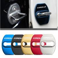 Toyota Corolla D Için araba Styling Kapı Kilidi Kapakları Spor Koruyucu Ve Dekorasyon Araba Aksesuarları Sticker