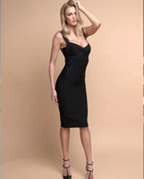 Black long straps and knees Women Bandage Dress New Arrival ...