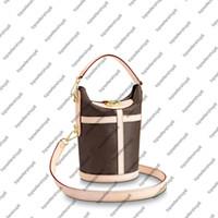 M43587 Duffle сумка сумочка женская натуральная кожаная кожаная кожа S-Lock зажимает холст ведро на плечо сумка для перекрестного тела