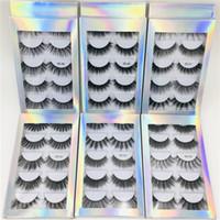 Novos 5 pares misturar estilo falso 3D mink cílios artesanais handmade cílios fino filhos macios Fallow Faux Mink Lashes Natural Olho Maquiagem Ferramentas Maquiagem
