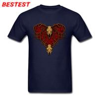Mens Luxury Brand T 셔츠 하트 맨 탑 T 셔츠 스컬 프린트 반소매 T 셔츠 오버 사이즈 일반 TShirt 라운드 칼라 신발