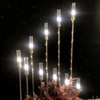 Neue Art Sternfeder 10 Köpfe LED-Kerzenlicht Gehweg für Hochzeit Veranstaltung Bühnendekoration senyu0153 stehen