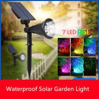 7 LED RGB Solar Gartenlicht Outdoor Solar Lampe Wasserdichte Rasenlicht Solarbetriebene Lichtsensor für Landschaftshof Dekoration