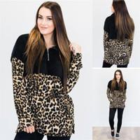 Women Fleece Hoodie Leopard Patchwork Sherpa Pullovers Sweatshirt V-Neck Zipper Sweaters Long Sleeve Tops Women Winter Fall Tees GGA3024-5