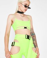Solid Color oco Out curto de alças Ternos Sexy Buckle cintura fina Two Piece Set Beach Summer Wear Roupas Femininas navio da gota
