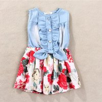 good quality Baby Girl Tutu Denim Dress Sleeve Lace Princess...