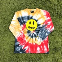 Justin Bieber The Drew House Drew Smile Face Printed Tie- dye...