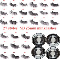 3D Mink Eyelashes 5D 25mm Lashes Dramatic Long Thick 5D Mink...