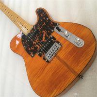 Spedizione gratuita Bianco Hohner HS Cat Mad Cat Tete Flame Acero Top Giallo Guitar Electric Guitar Leopardo PickGuard, Turtle Red Binding Guit