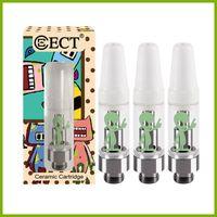 Authentique ECT Kenjoy B2 cartouches de vapeur en céramique e vaporisateur de cigarette avec boîte d'affichage Alien pour gros usine d'huile