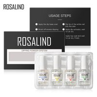ROSALIND Nails Holographic Glitter Dip Powder Set For Nail A...